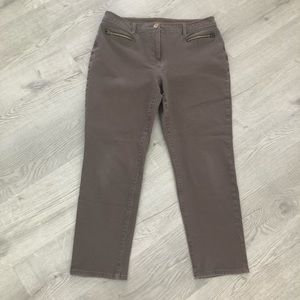 Chico's So Slimming Washed Brown Ankle Jean 1.5
